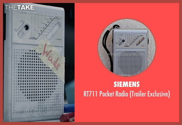 Siemens radio from Deadpool seen with Ryan Reynolds (Wade Wilson / Deadpool)