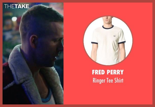 Fred Perry white shirt from Deadpool seen with Ryan Reynolds (Wade Wilson / Deadpool)