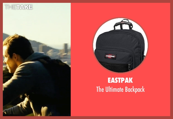 Eastpak black backpack from Safe House seen with Ryan Reynolds (Matt Weston)