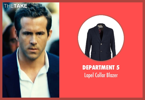 Department 5 blue blazer from Safe House seen with Ryan Reynolds (Matt Weston)
