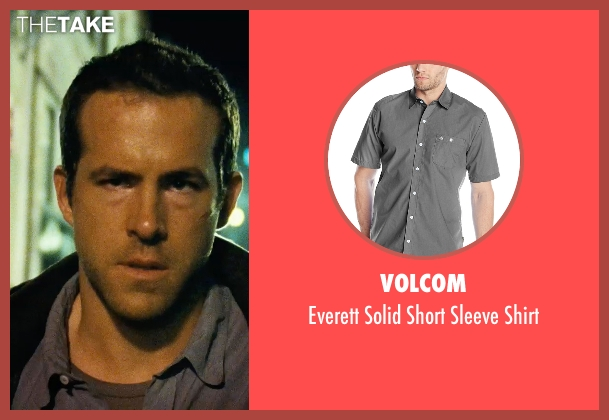 Volcom gray shirt from Safe House seen with Ryan Reynolds (Matt Weston)