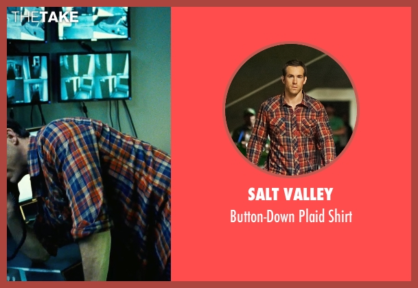 Salt Valley orange shirt from Safe House seen with Ryan Reynolds (Matt Weston)