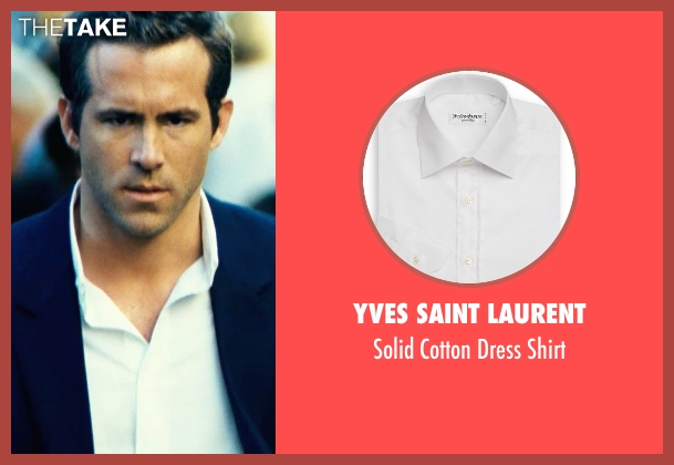 Yves Saint Laurent white shirt from Safe House seen with Ryan Reynolds (Matt Weston)