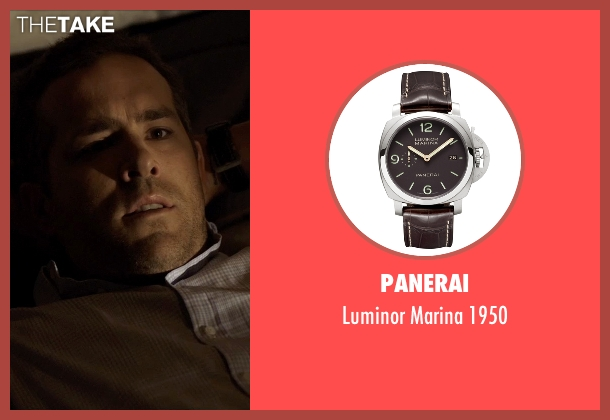 Panerai black 1950 from Self/Less seen with Ryan Reynolds (Young Damian)