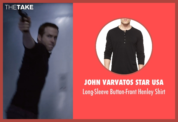 John Varvatos Star USA black shirt from Self/Less seen with Ryan Reynolds (Young Damian)