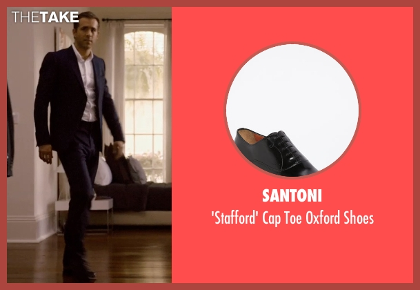 Santoni black shoes from Self/Less seen with Ryan Reynolds (Young Damian)