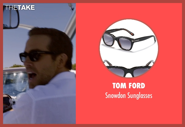 Tom Ford black sunglasses from Self/Less seen with Ryan Reynolds (Young Damian)