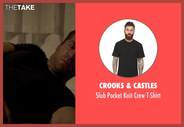 Crooks & Castles black t-shirt from Self/Less seen with Ryan Reynolds (Young Damian)