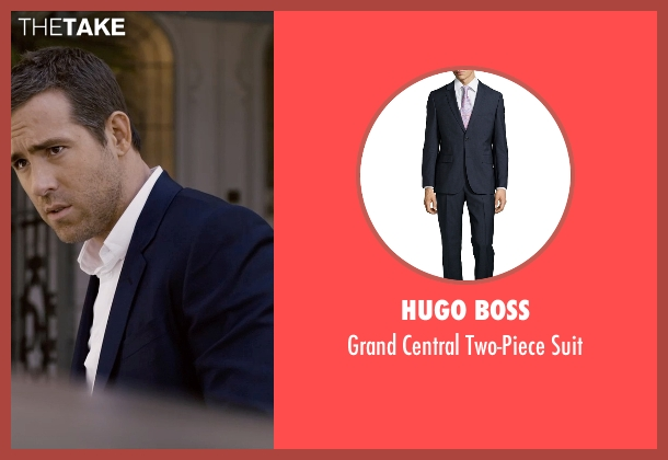 Hugo Boss blue suit from Self/Less seen with Ryan Reynolds (Young Damian)