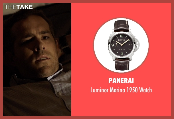 panerai brown watch from selfless seen with ryan reynolds young damian luminor marina baume u0026 mercier clifton chronograph watches for steel bracelet