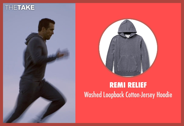 Remi Relief gray hoodie from Self/Less seen with Ryan Reynolds (Young Damian)