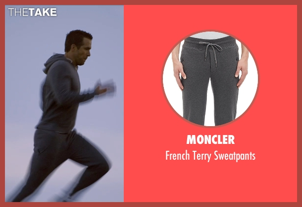 Moncler gray sweatpants from Self/Less seen with Ryan Reynolds (Young Damian)