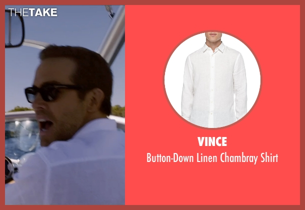 Vince white shirt from Self/Less seen with Ryan Reynolds (Young Damian)
