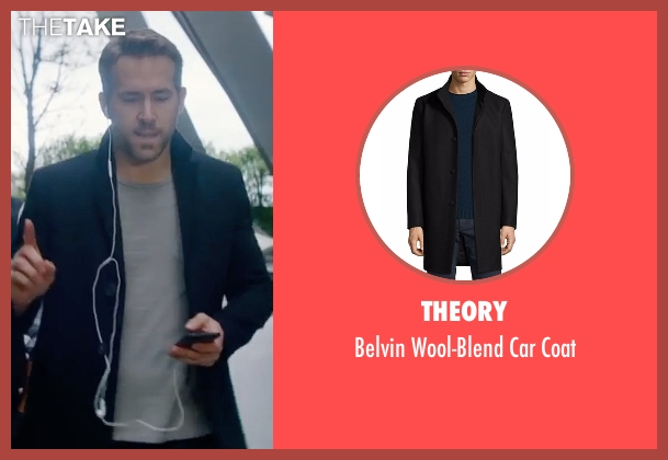 Ryan Reynolds Jared Lang Wool Blend Coat from The Hitman's ... Ryan Reynolds Movies