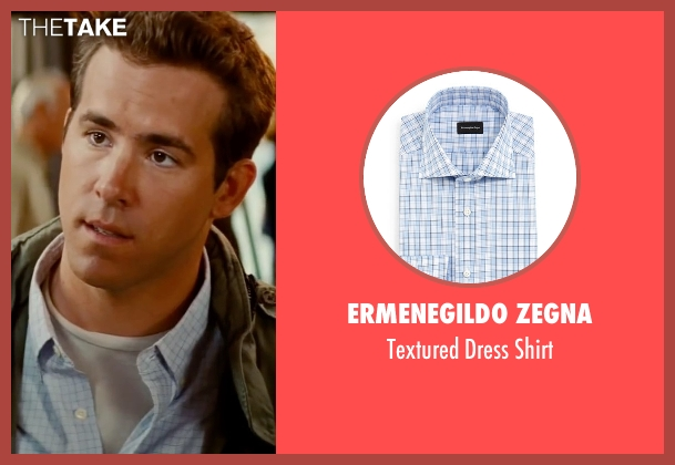 Ermenegildo Zegna blue shirt from The Proposal seen with Ryan Reynolds (Andrew Paxton)