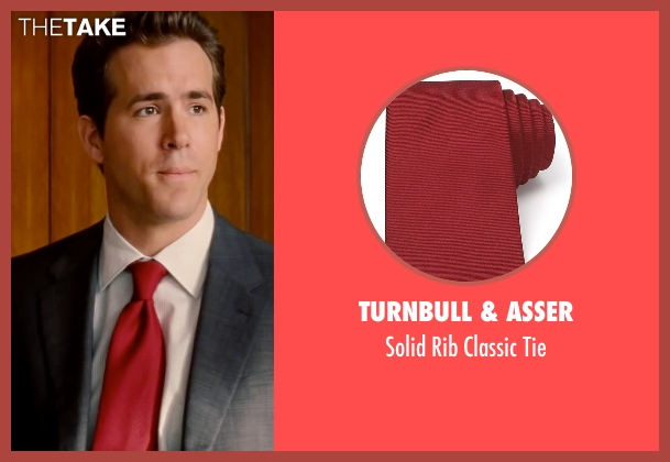 Turnbull & Asser red tie from The Proposal seen with Ryan Reynolds (Andrew Paxton)