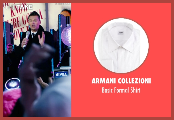 Armani Collezioni	 white shirt from New Year's Eve seen with Ryan Seacrest