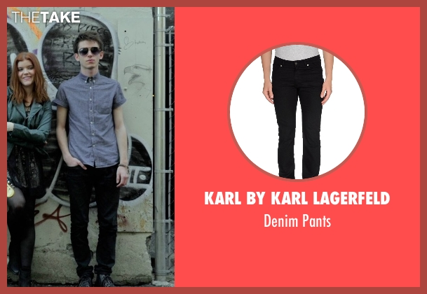 Karl By Karl Lagerfeld black pants from If I Stay seen with Ryan Stephenson (Willamette Stone Band)