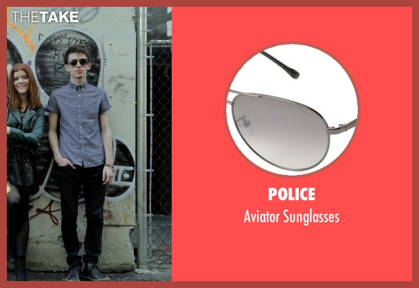 Police black sunglasses from If I Stay seen with Ryan Stephenson (Willamette Stone Band)
