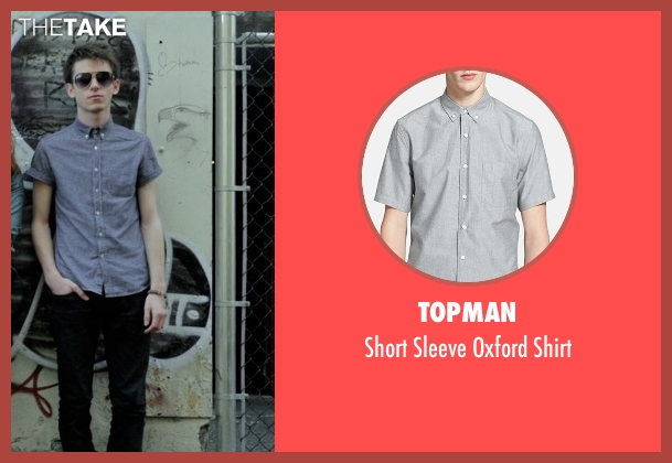 Topman gray shirt from If I Stay seen with Ryan Stephenson (Willamette Stone Band)