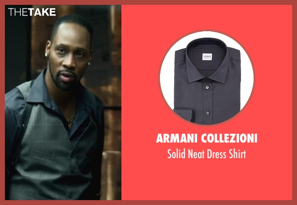 Armani Collezioni shirt from Brick Mansions seen with RZA (Tremaine Alexander)