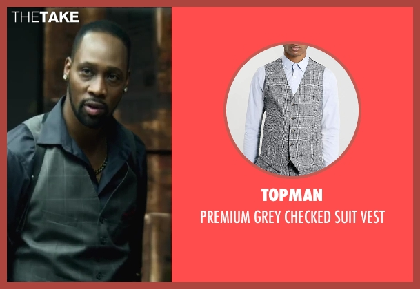 Topman vest from Brick Mansions seen with RZA (Tremaine Alexander)