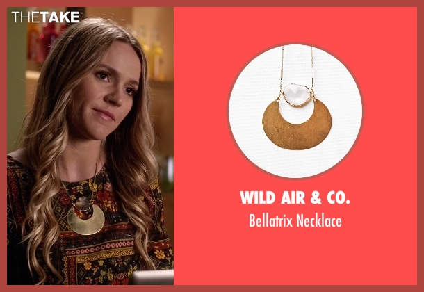 Wild Air & Co.  gold necklace from Pretty Little Liars seen with Sabrina (Lulu Brud)