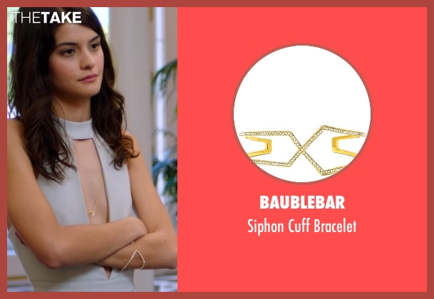 BaubleBar gold bracelet from The Mick seen with Sabrina (Sofia Black-D'Elia)