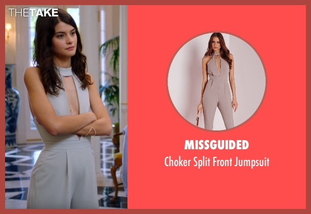 Missguided gray jumpsuit from The Mick seen with Sabrina (Sofia Black-D'Elia)