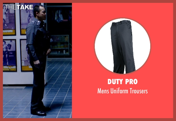 Duty Pro blue trousers from Only God Forgives seen with Sahajak Boonthanakit (Kim)
