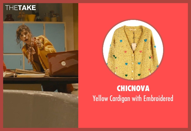 Chicnova yellow embroidered from Paddington seen with Sally Hawkins (Mrs. Brown)