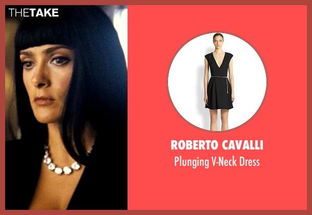 Roberto Cavalli black dress from Savages seen with Salma Hayek (Elena)