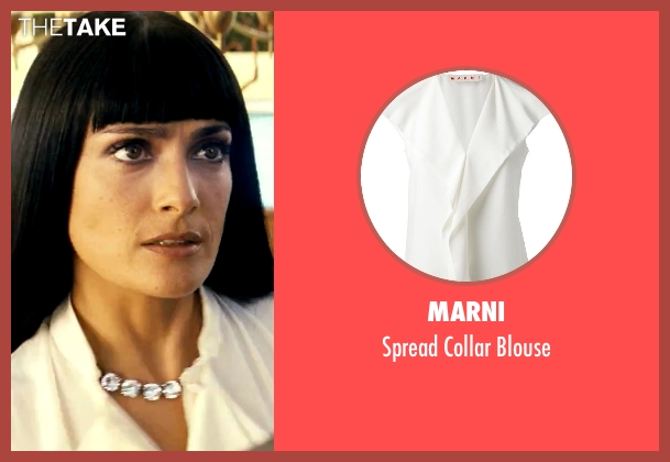 Marni white blouse from Savages seen with Salma Hayek (Elena)