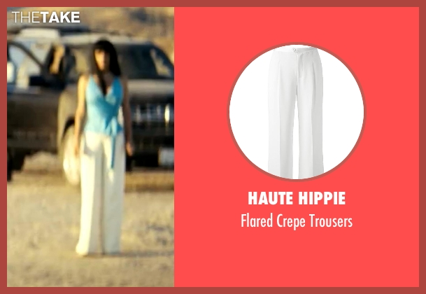 Haute Hippie white trousers from Savages seen with Salma Hayek (Elena)