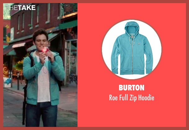 Burton blue hoodie from Love, Rosie seen with Sam Claflin (Alex Stewart)