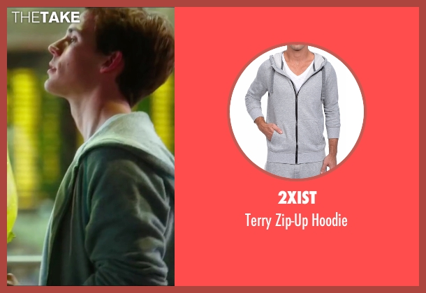 2xist gray hoodie from Love, Rosie seen with Sam Claflin (Alex Stewart)