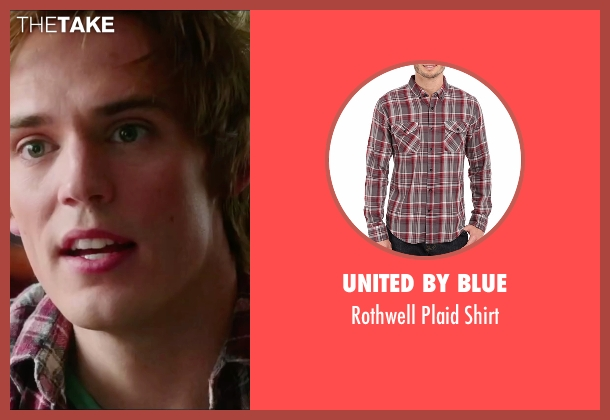 United By Blue red shirt from Love, Rosie seen with Sam Claflin (Alex Stewart)