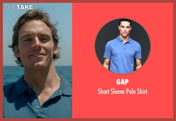 Gap blue shirt from Me Before You seen with Sam Claflin (Will Traynor)