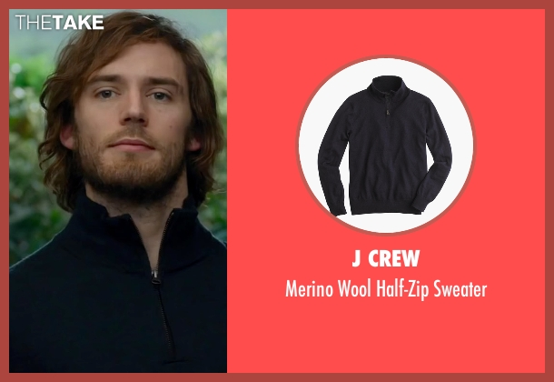 J Crew blue sweater from Me Before You seen with Sam Claflin (Will Traynor)