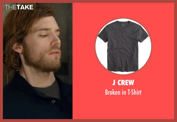 J Crew gray t-shirt from Me Before You seen with Sam Claflin (Will Traynor)