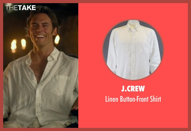 J.Crew white shirt from Me Before You seen with Sam Claflin (Will Traynor)