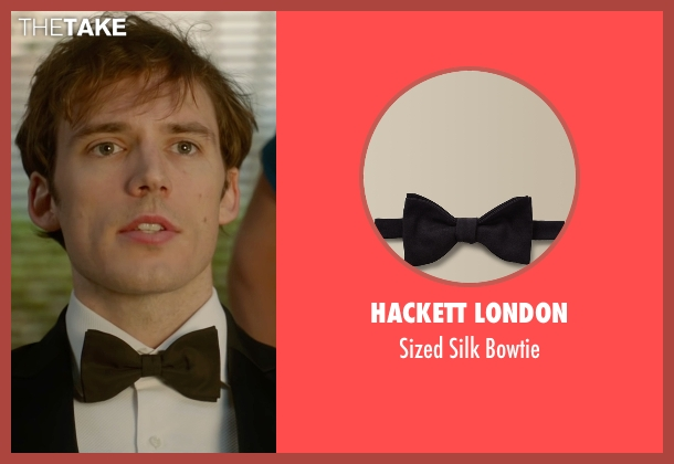 Hackett London black bowtie from Me Before You seen with Sam Claflin (Will Traynor)