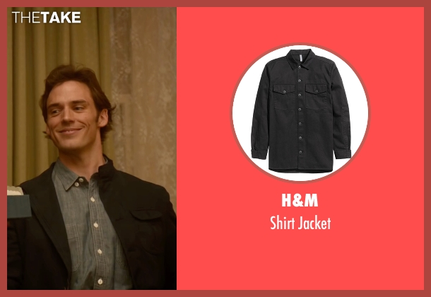 H&M black jacket from Me Before You seen with Sam Claflin (Will Traynor)