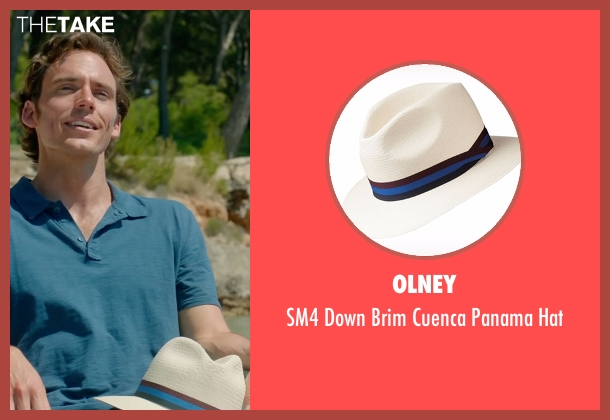 Olney white hat from Me Before You seen with Sam Claflin (Will Traynor)