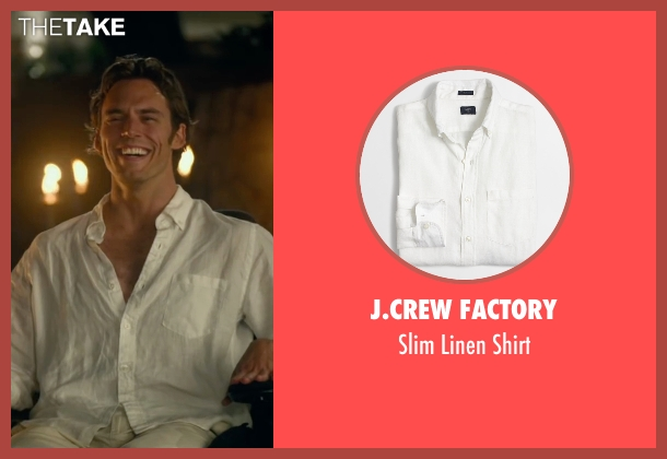 J.Crew Factory white shirt from Me Before You seen with Sam Claflin (Will Traynor)