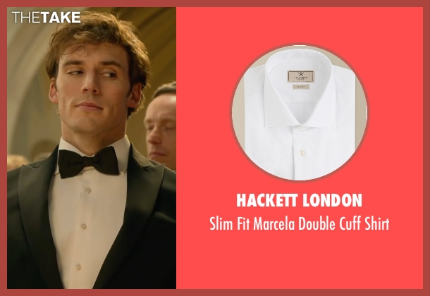 Hackett London white shirt from Me Before You seen with Sam Claflin (Will Traynor)