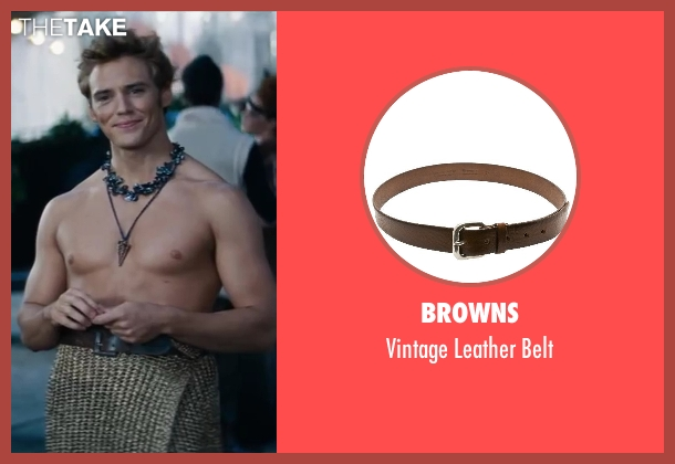 Browns brown belt from The Hunger Games: Catching Fire seen with Sam Claflin (Finnick Odair)