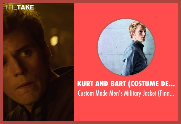 Kurt and Bart (Costume Designer) black jacket from The Hunger Games: Mockingjay Part 1 seen with Sam Claflin (Finnick Odair)