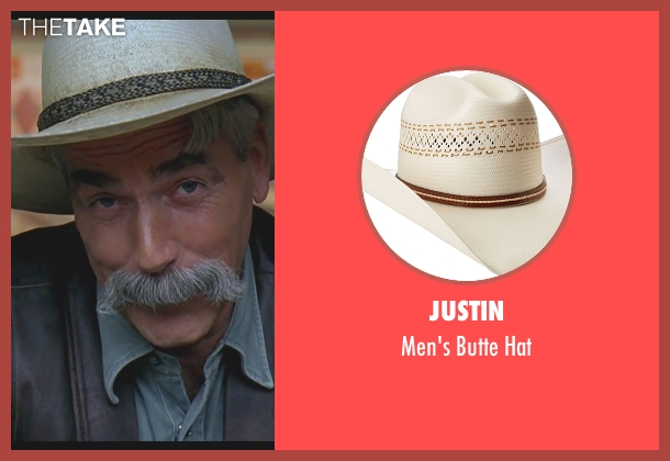 Justin beige hat from The Big Lebowski seen with Sam Elliott (The Stranger)