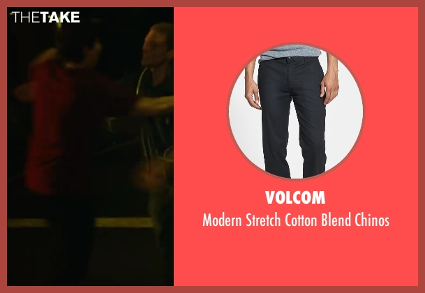Volcom black chinos from Project Almanac seen with Sam Lerner (Quinn Goldberg)